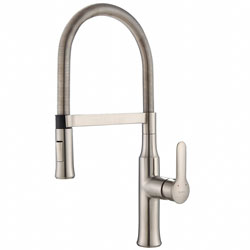 Kraus KPF-1640SS Modern Nola Single Lever Flex Commercial Style Kitchen Faucet