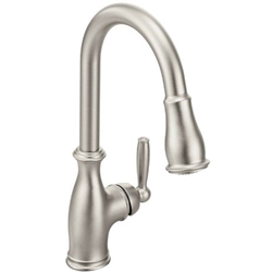 Moen Brantford One-Handle High Arc Pulldown Kitchen Faucet Featuring Reflex