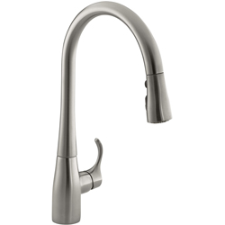 KOHLER K-596-VS Simplice Single-hole Pull-down Kitchen Faucet