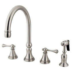 Kingston Brass KS2798BLBS 8-Inch Deck Mount Kitchen Faucet