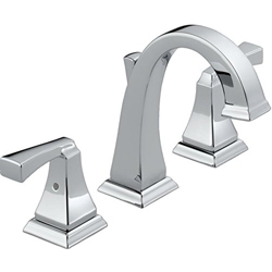 Delta 3551LF Dryden Two Handle Widespread Bathroom Faucet