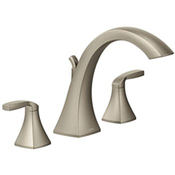Moen T6905BN Voss Two-Handle High-Arc Widespread Bathroom Faucet without Valve