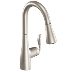 Moen Arbor One-Handle High Arc Pulldown Kitchen Faucet Featuring Reflex