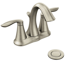 Moen Eva Centerset Bathroom Faucet with Drain Assembly