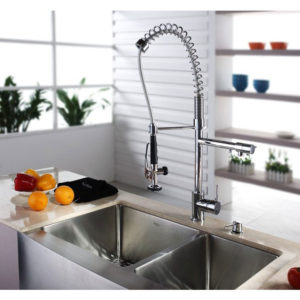 parts spring single nickel kpf kitchen faucets handle rinse kraus style faucet black chrome pre commercial
