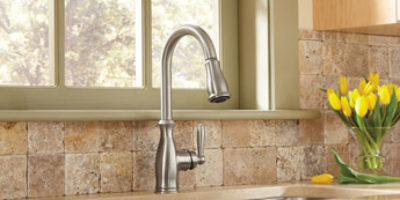 Moen Brantford High Arc Pulldown 7185SRS Kitchen Faucet
