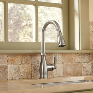 Moen Brantford High Arc Pulldown 7185SRS Kitchen Faucet Review