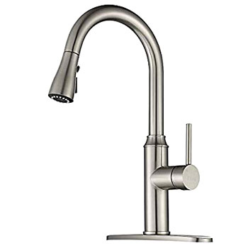 Arofa A01LY Pull Down Commercial Kitchen Faucet Single Hole