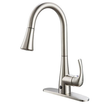 Foruous Sensor Touchless Kitchen Sink Faucet with Sprayer
