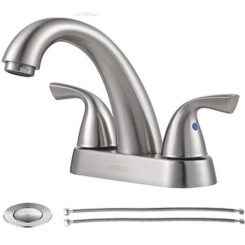 PARLOS 2-Handle Bathroom Sink Faucet with Drain Assembly and Supply Hose