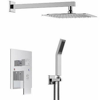 SUN RISE SRSH-F5043 Luxury Wall Mounted Rainfall Shower Faucet